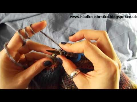 Ako strikovat sveter 4 cast Zuzovanie na plecia - YouTube