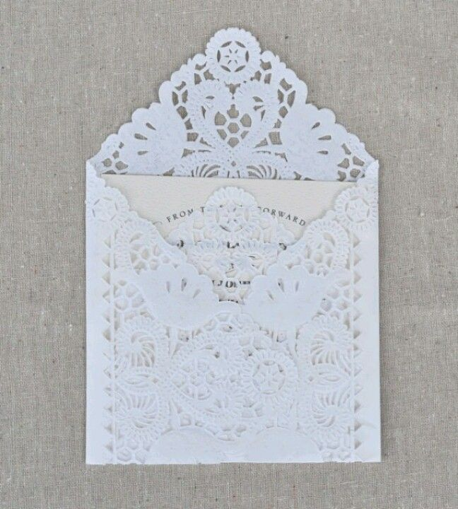 Lace wedding invitations - how fitting!