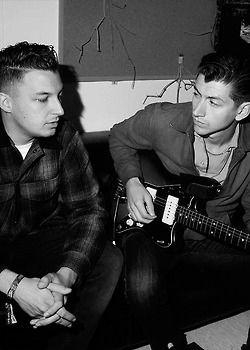 Matt Helders and Alex Turner from Arctic Monkeys