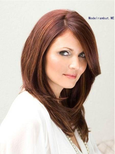 Model Rambut Teknik Layer Untuk Wajah Bulat