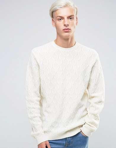 Prezzi e Sconti: #Asos maglia a trecce in misto lana merino - taglia Xxsxl  ad Euro 15.99 in #Asos #Male saldi maglioni e cardigan