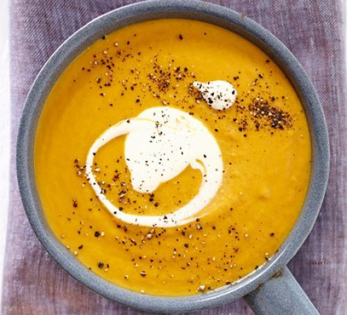 Roasted sweet potato & carrot soup *WITHOUT THE CREME FRAICHE*
