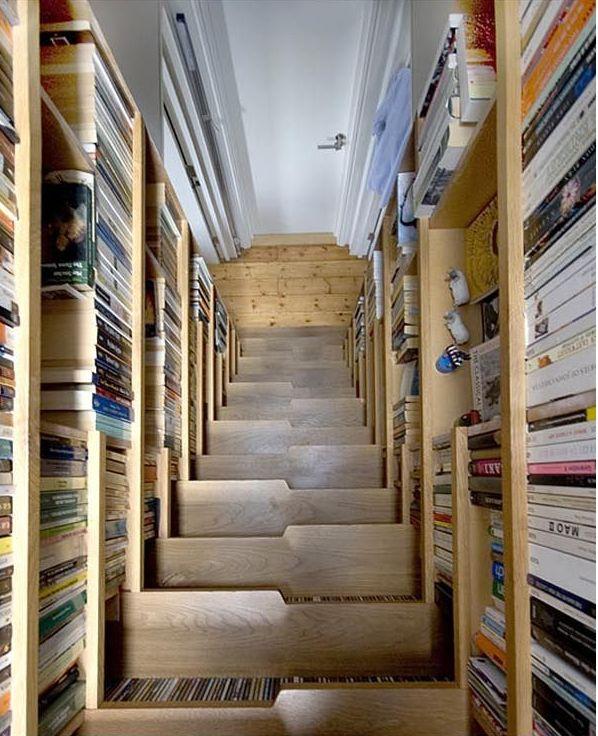 Un Escalier Biblioth Que Joli Inspiration Maison Pinterest
