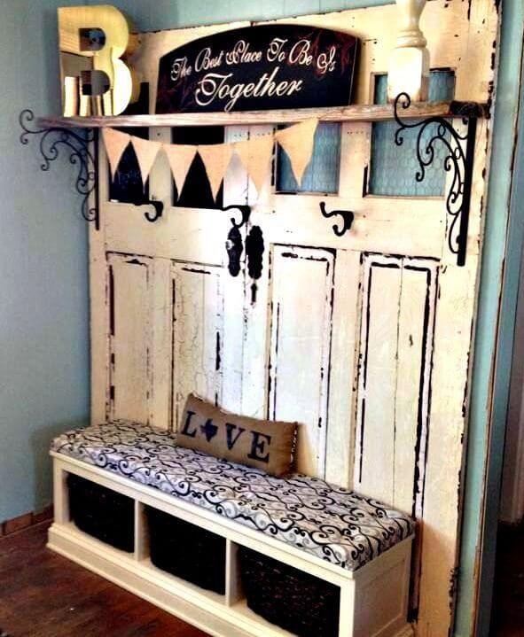 Stable Doors Shoe Bench and Coat Rack