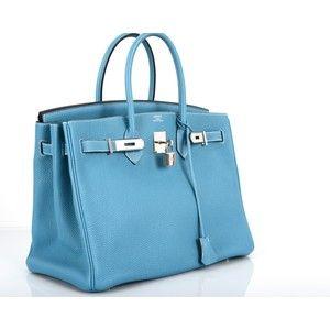 AMAZING FIND HERMES BIRKIN BAG 35CM BLUE JEAN GORGEOUS TOGO PHW