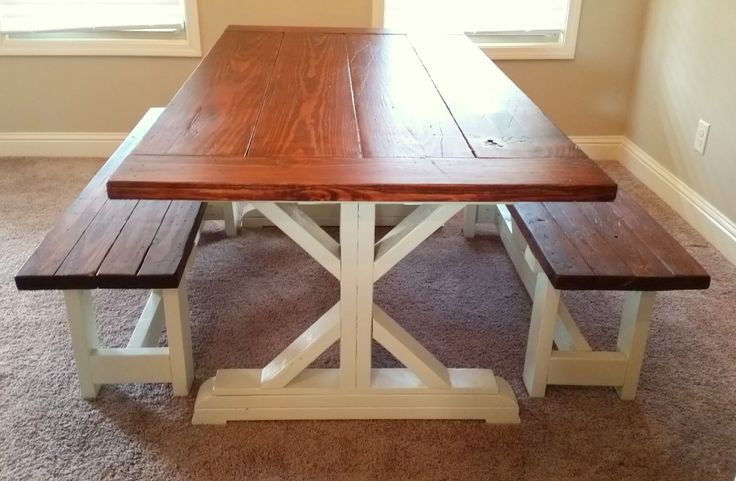 Farmhouse Bench - SALE THIS MONTH - Custom Dining Table Bench - Rustic Dining Table Seating - Farm Table Bench - Fancy X Bench by NorthGeorgiaWoodwork on Etsy https://www.etsy.com/listing/216668878/farmhouse-bench-sale-this-month-custom