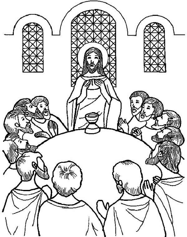 Free Printable Last Supper Coloring Pages Last Supper Coloring