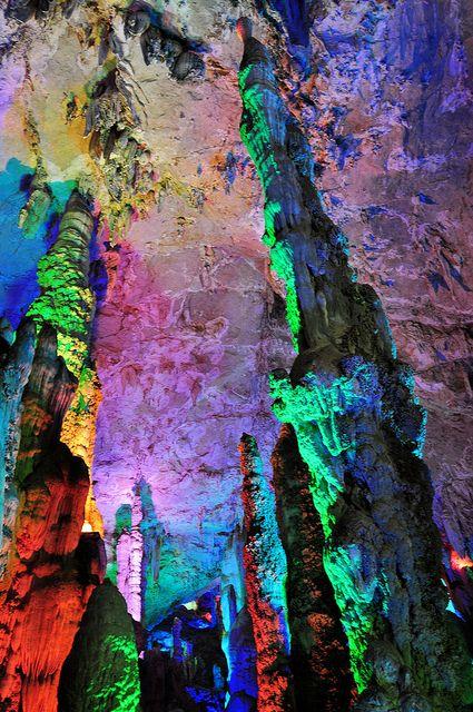 Stalagmites, Jiuxiang Cave, Yunnan, China