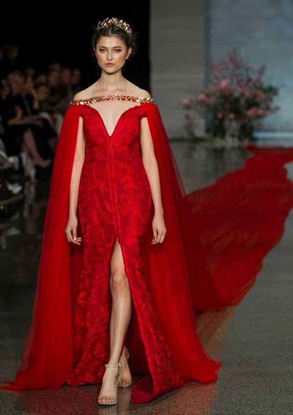 Moda nupcial: un vestido de novia de color rojo, de récord