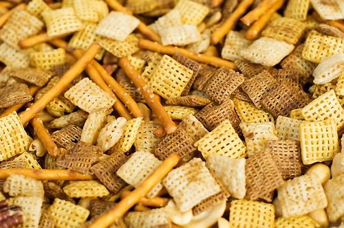 """I know what you're thinking: """"Chex Party Mix? But I can just buy that in bags from the supermarket!"""" But the truth is, my turkeys, you really, really can't. No offense to Ch…"""