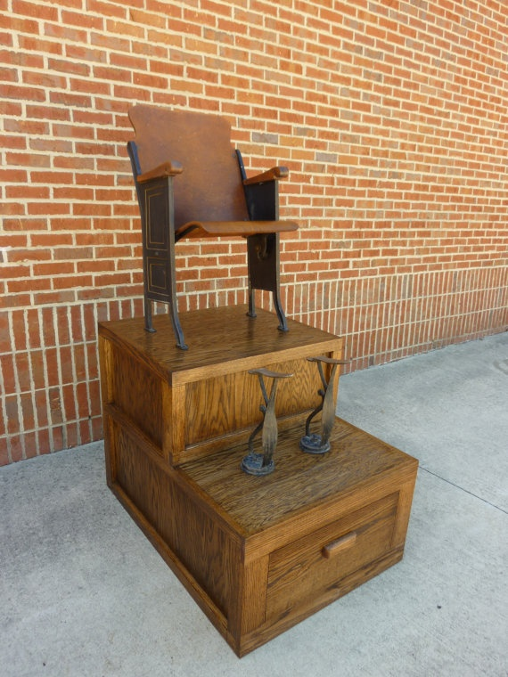 Man Cave Barber Orleans : Perfect quot time out chair shoe shine stand by