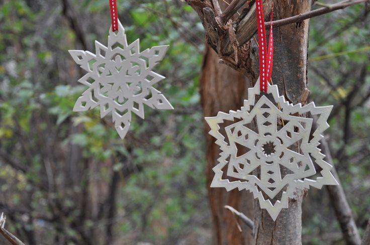 Ceramic snowflakes by Hakah Ceramics
