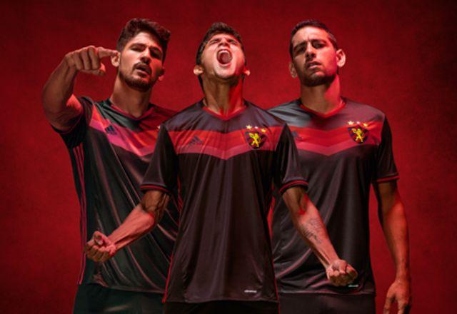 Camisa reserva preta do Sport Recife 2016-2017 Adidas
