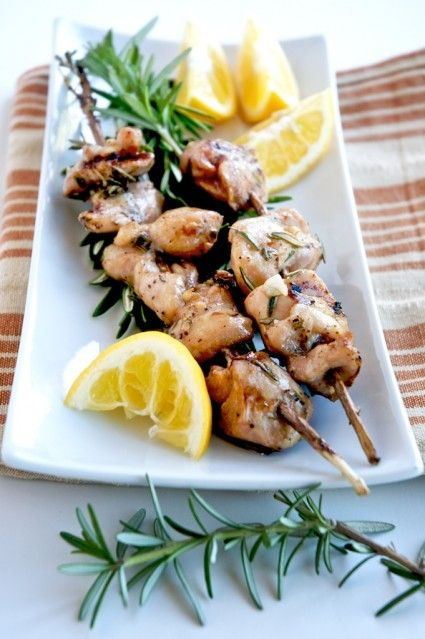 Grilled Chicken Rosemary Skewers - ode to simplicity