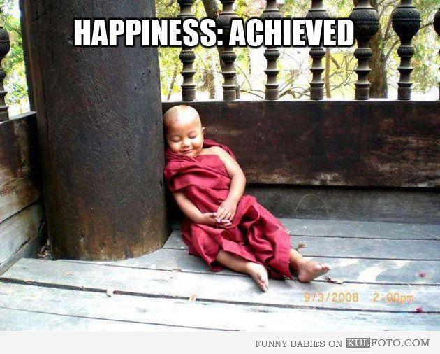 Happy Buddhist Monk Baby Sleeping Funny Baby In Buddhist