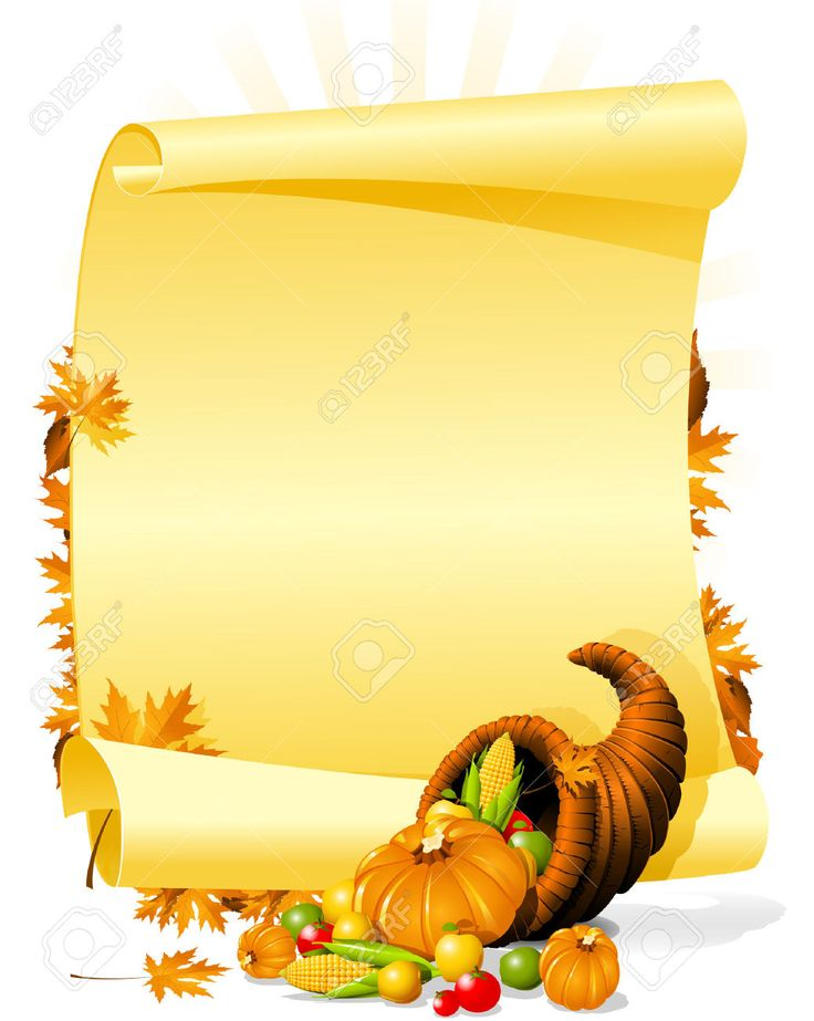 5568956-Blank-thanksgiving-banquet-invitation-Stock-Vector-thanksgiving-cornucopia-scroll.jpg (1036×1300)