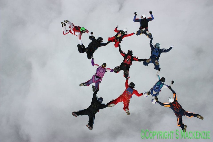 Dave Lewis' Load Organising - 11way Diamond - Boogie I 2012 - Skydive Langar  © S Makenzie