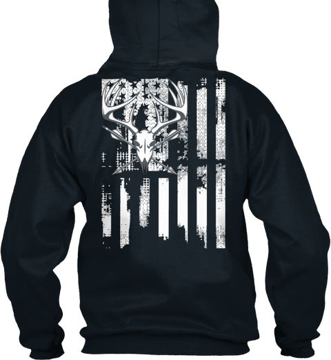 Limitierte Auflage Hirschjagd Flagge French Navy Sweatshirt Back