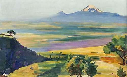 1957 Ясный день. Х., м. 40х64 МС - Сарьян Мартирос Сергеевич