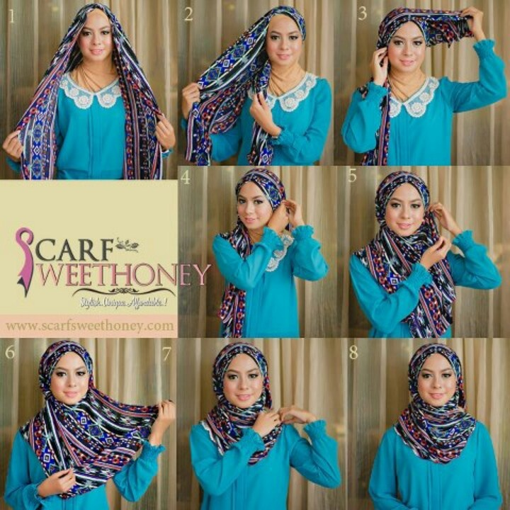 Step By Step Hijab Style Pinterest Step By Step