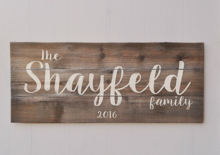 Large Last Name Sign, Family Established Sign, Personalized Family Name sign, Rustic Decor, Housewarming Gift, Wedding Gift Weathered Wood by wavynavy on Etsy https://www.etsy.com/listing/285723939/large-last-name-sign-family-established