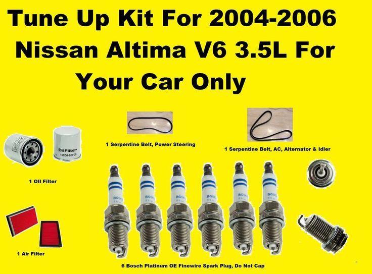 Nice Nissan 2017 - Tune Up Kit for 2004-2006 Nissan Altima V6 Spark Plug Serpentine Belt Oil Filter... Check more at http://24car.ga/my-desires/nissan-2017-tune-up-kit-for-2004-2006-nissan-altima-v6-spark-plug-serpentine-belt-oil-filter/