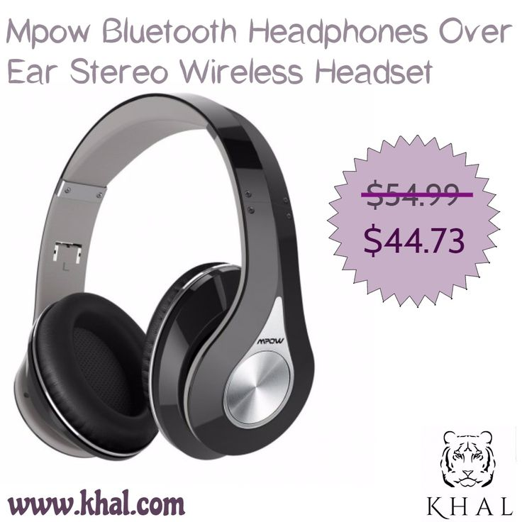 #Mpow #Bluetooth #Headphones #Over #Ear #Stereo #Wireless #Headset w/ Mic and #Wired Mode for #PC/ #Phones/ #TV (MPBH059AH)  https://www.khal.com/products/mpow-bluetooth-headphones-over-ear-stereo-wireless-headset-w-mic-and-wired-mode-for-pc-phones-tv-mpbh059ah  #khal #khal.com #Summer#offer #Deals #online#shopping #shopping #Headphone #on#ear #Electronics #mobile #system #Headset