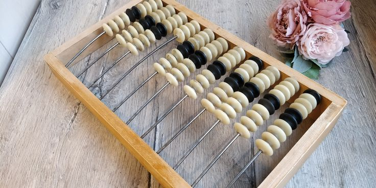 Big Wooden Abacus with Plastic Beads. Soviet Abacus ...