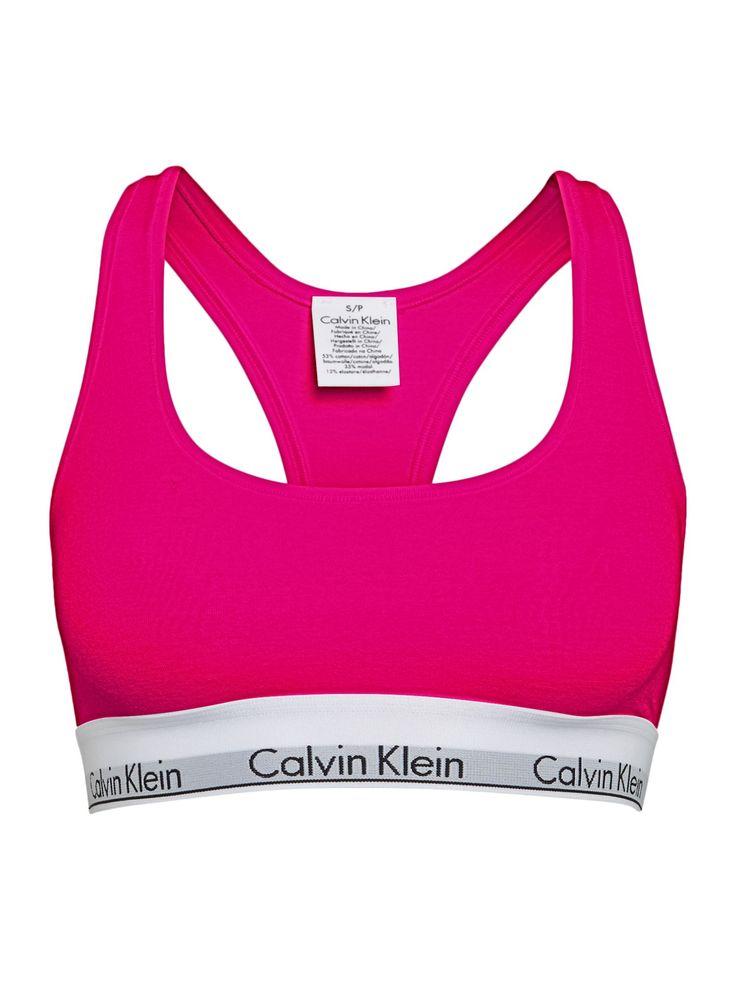 Calvin Klein Modern cotton bralette, Pink