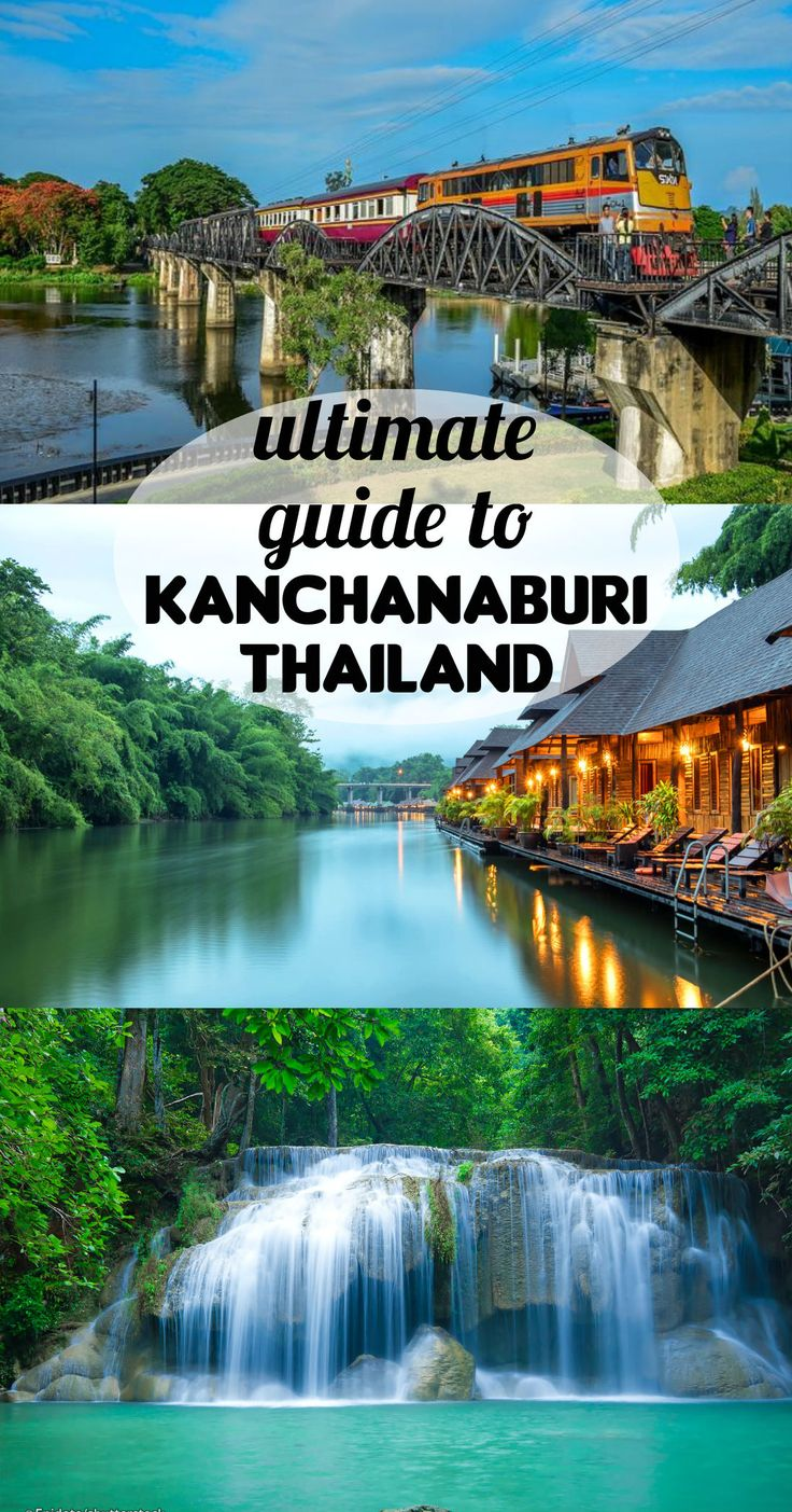Complete guide to Kanchanaburi, Thailnd; itinerary, bridge over river Kwai, Erawan park (waterfalls), Death railway, accommodation tips, local food, how to get.
