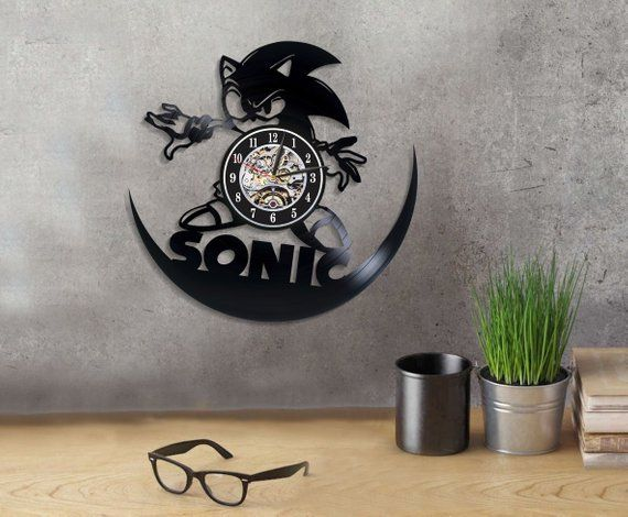 Sonic The Hedgehog Game Art Sonic Generations Wall Clock