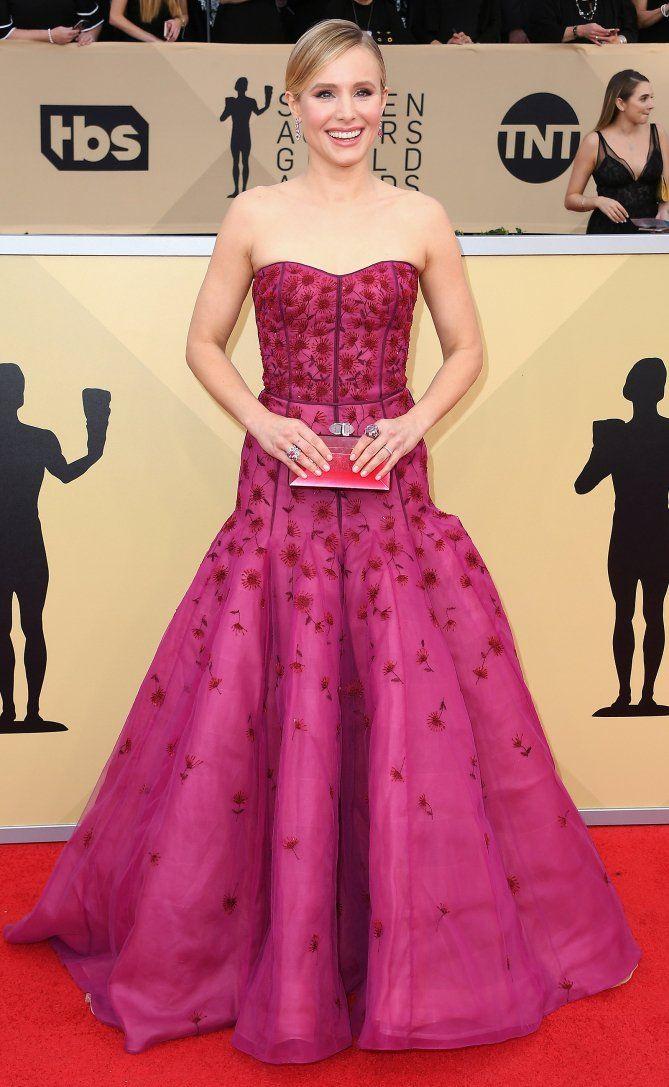 SAG Awards 2018 Red Carpet: Best Dressed and Fashion Highlights - Kristen Bell in J. Mendel