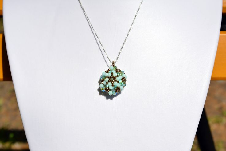 LUXURY MINT-GREEN PENDANT from luxurybeadjewelry.co.uk