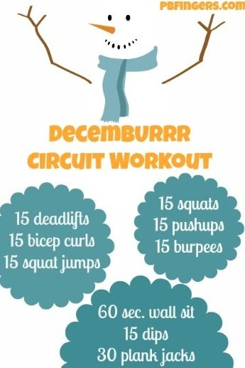 DecemBURRR Circuit Workout | Peanut Butter Fingers