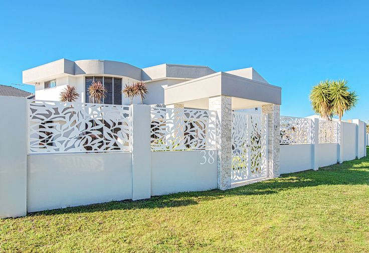 EstateWall entrance wall with customised laser cut infills