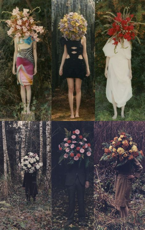 Photographer Amira Fritz. Not loving the execution of the arrangements themselves but the concept is strong