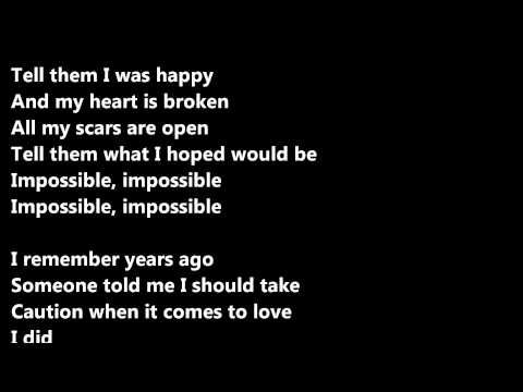 James Arthur - Impossible (lyrics) - YouTube