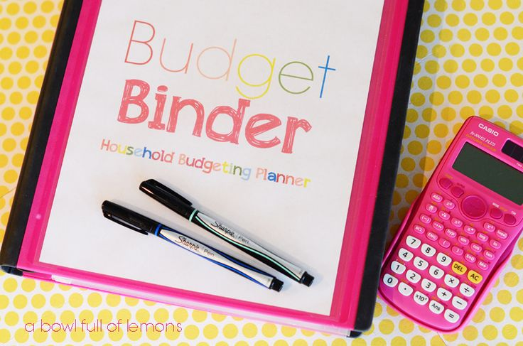How to organize your family budget: Household Budgeting Planner - A Bowl Full of Lemons