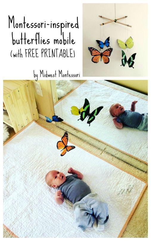 Mobile papillons / printable gratuit / pour Nido