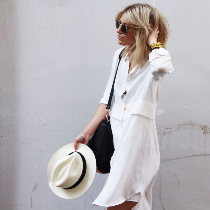 Kelly Love off white shirtdress via D a m o y . E  - s h o p. Click on the image to see more!