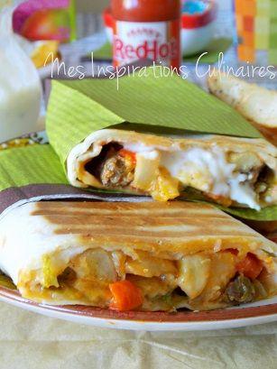 Tacos Lyonnais à la sauce gruyère  | Le Blog cuisine de Samar