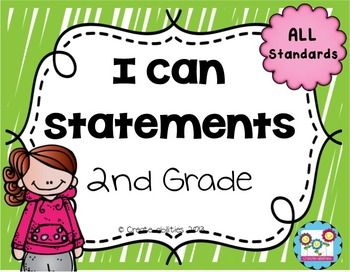 Math I Can Statements for 2nd Grade****UPDATE: This set has been updated on November 23, 2014 to include full page I Cans!****This set contains 101 pages of I can statements in kid-friendly language. There are I can's that cover ALL the standards in the 2nd grade Common Core curriculum.