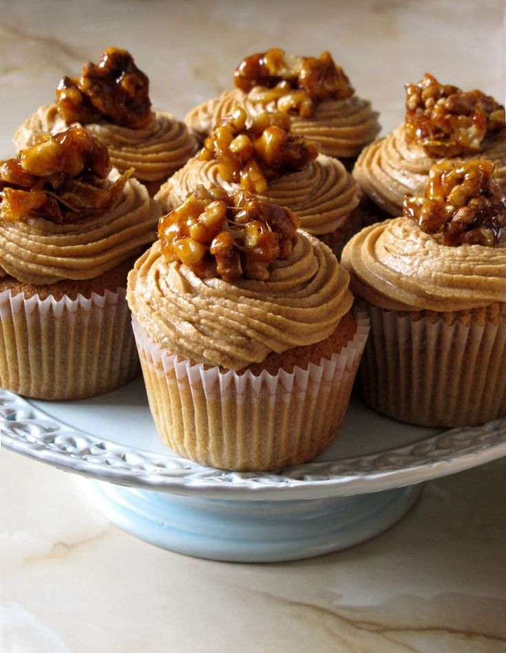 Let them eat cupcakes - Coffee and walnut crunch cupcakes