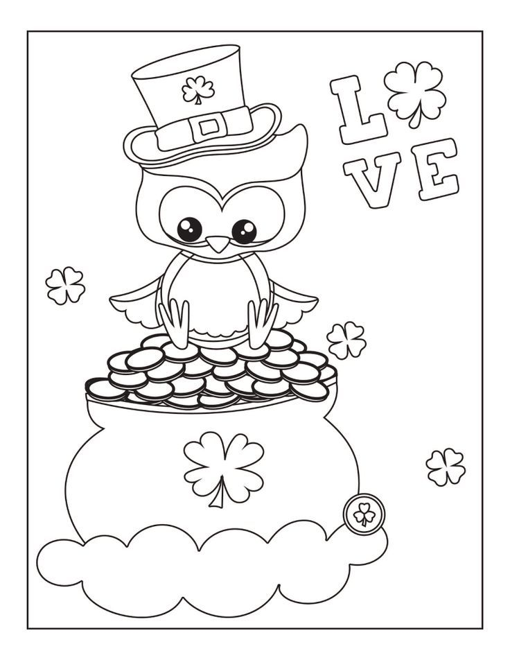 It is a picture of Free Printable St Patrick Day Coloring Pages within maze