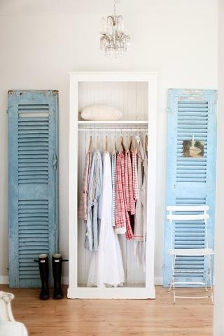 Decorating with repurposed shutters