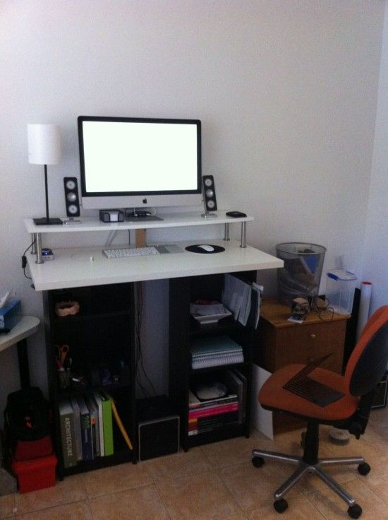home office furniture ikea. standing desk using ikea book cases u0026 top home office furniture