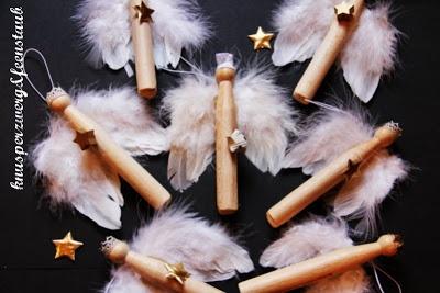 Engel aus Wäscheklammern