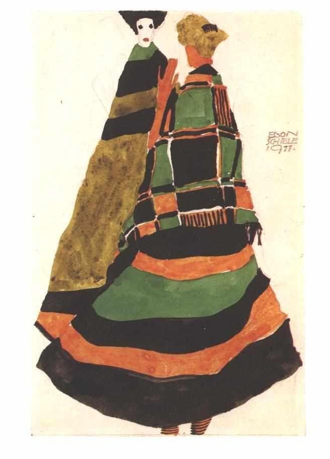 Design for a postcard - Egon Schiele