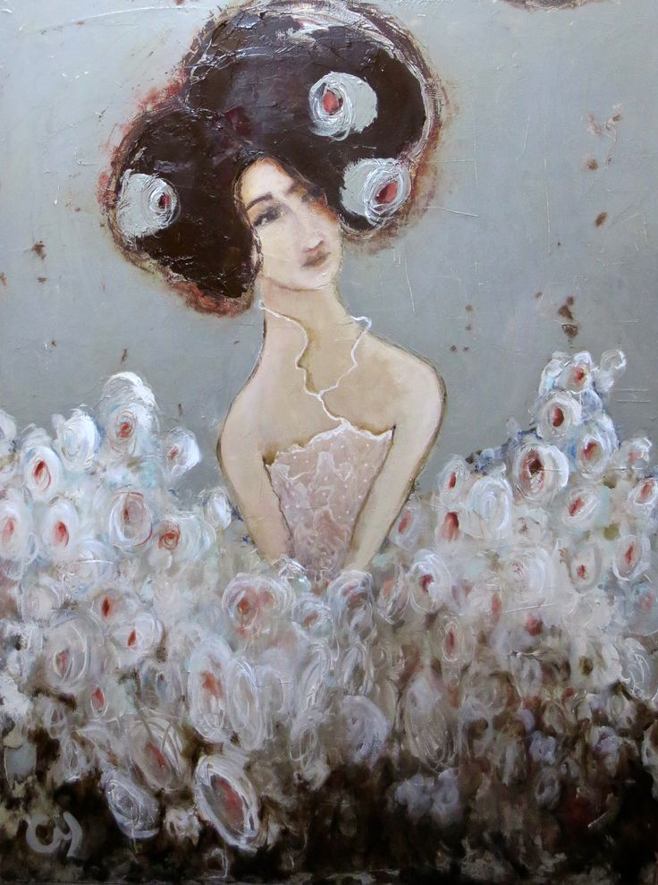 Andalouse par Christyne Proulx/ Acrylique sur bois /30X40/ Un Univers entre réalisme et chimères! www.christyne proulx.com