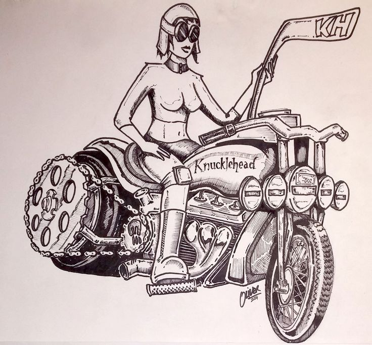 Knucklehead Motor Company - crazy bike art.